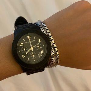 Michael Kors Black jelly watch